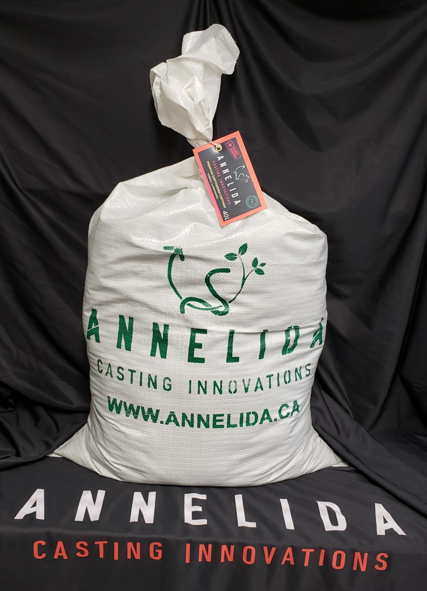 ANNELIDA - Premium Earthworm Castings - 40 Litre